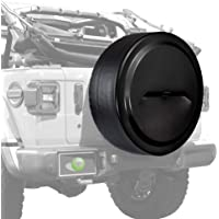 Boomerang - Rigid JL Tire Cover (Plastic Face & Vinyl Band) for Jeep Wrangler JL (with Back-up Camera) - (2018-2020…