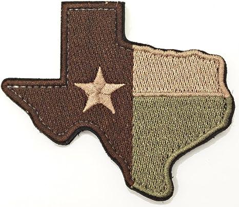WZT Texas Estado Bandera Parche moral patch-velcro parche: Amazon.es: Juguetes y juegos