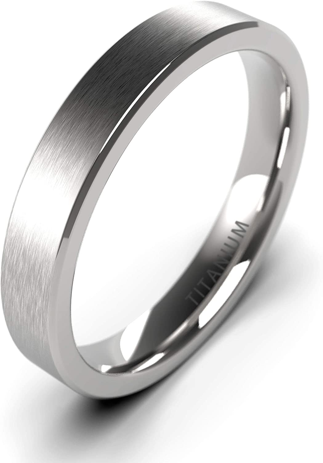 Shiny & co Titanium Rings 4MM 6MM 8MM 10MM Wedding Band in Comfort Fit Matte for Men Women