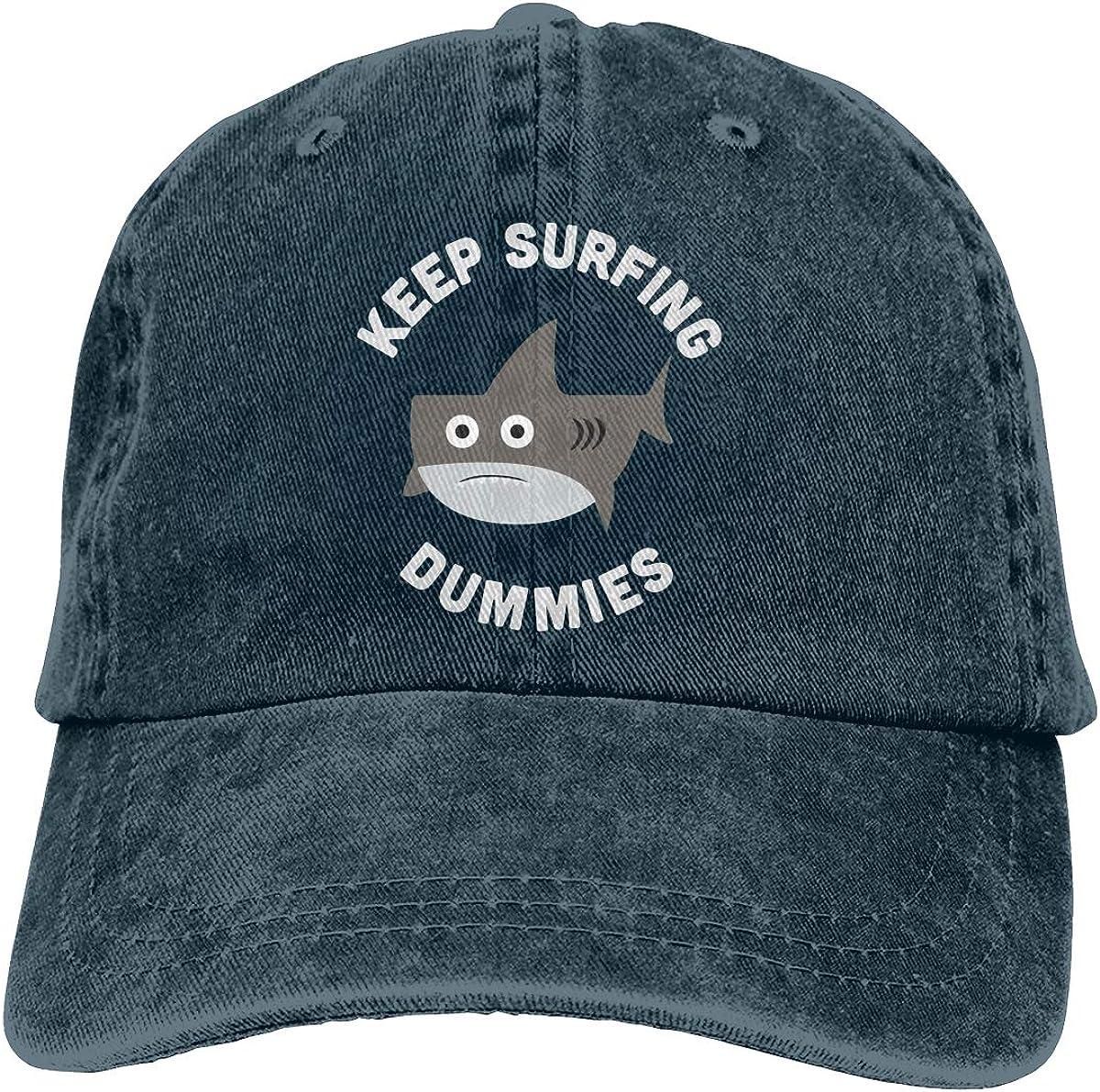 Cute Shark - Keep Surfing Denim Hats Adjustable Baseball Cap Dad Hats
