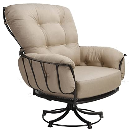 Exceptionnel OW Lee Monterra Swivel Rocker Lounge Chair In Copper Canyon Finish, Fortune  Char Fabric