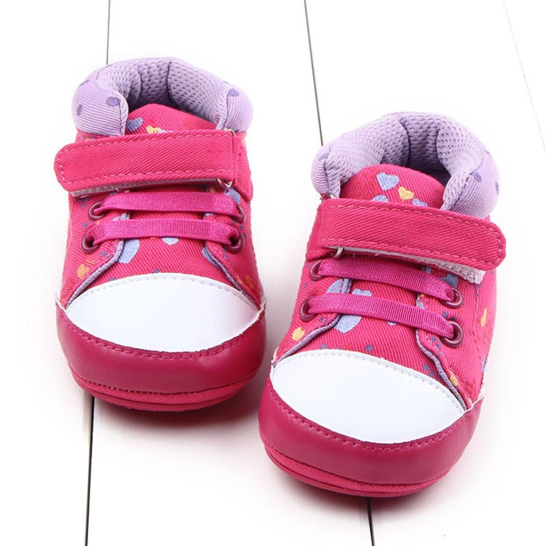 Egmy Baby Shoes Baby Girls Boys 0-18 Months Soft Sole Crib Shoes Toddler Anti-Skid Sneaker