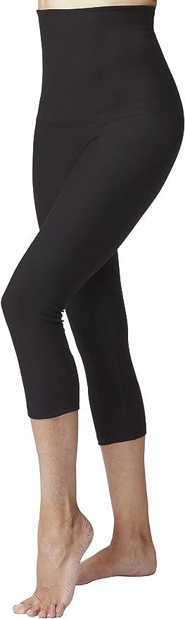 TALLA 36. Leggins tobilleros, ligeros, de mujer, de cintura alta tipo faja