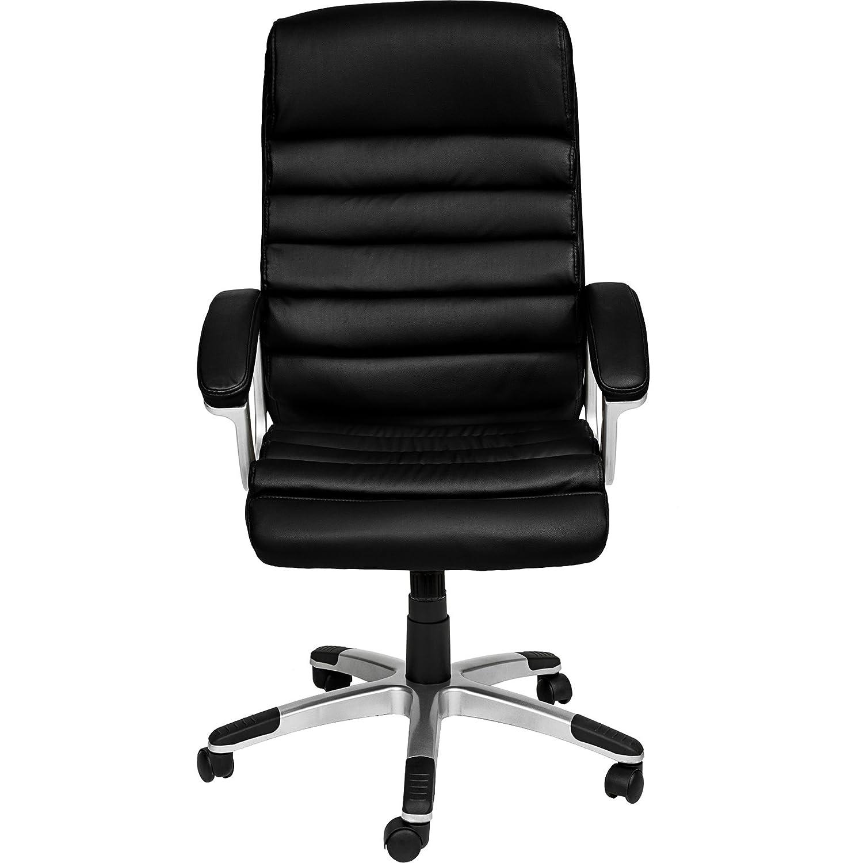 TecTake Silla de Oficina Sillon de despacho Ejecutivo con reposabrazos (Negro | no. 402149)