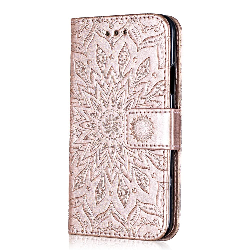 Bear Village/® Leather Case with Inner Stand Function Card Slot Case Galaxy S8 Plus #8 Rose Gold Magnetic Flip Phone Protective Case for Samsung Galaxy S8 Plus