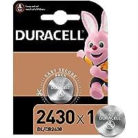 Duracell Pila especial de botón de litio 2430 de 3 V, paquete de 1 unidad DL2430/CR2430, diseñada para uso en llaves con…