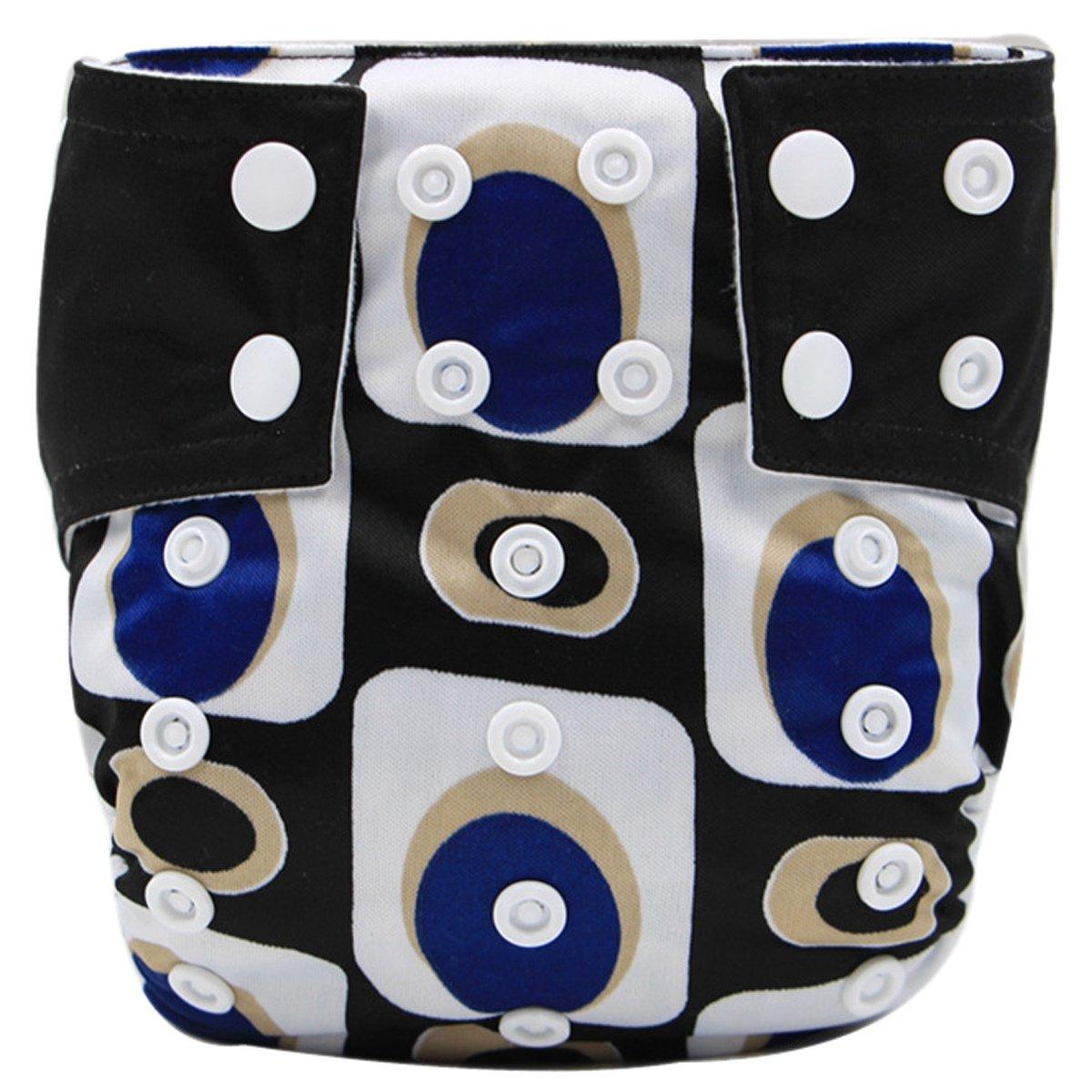 Happy Cherry Bébé Naissances Culottes d'apprentissage Lavables Pantalon Couche Avec Bouton Taille Réglable - Noir
