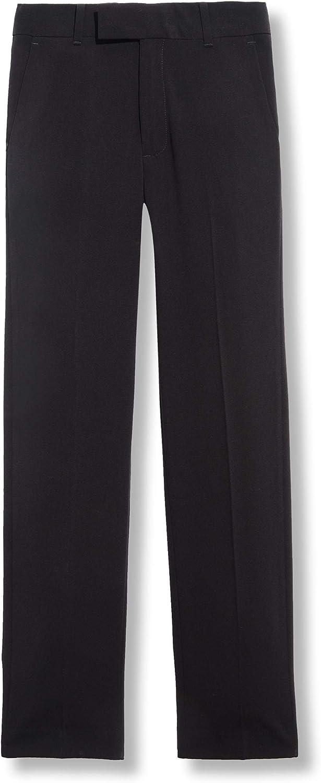 Calvin Klein Boys' Bi-Stretch Flat Front Dress Pant: Clothing