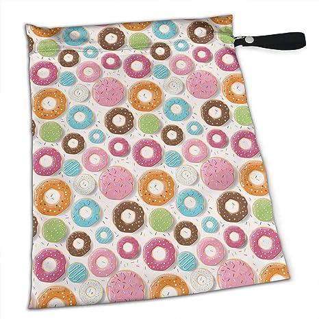 NIAOBUDAI bolsas de pañales coloridas con diseño de donas de ...