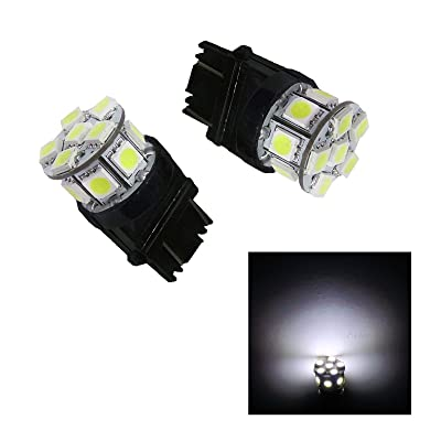 PA 2x 13SMD LED 3157 3457A 3156 Auto Stop Light/Back Light/Side Marker Light/Tail Light/Turn Signal Light Bulbs White-12V: Automotive