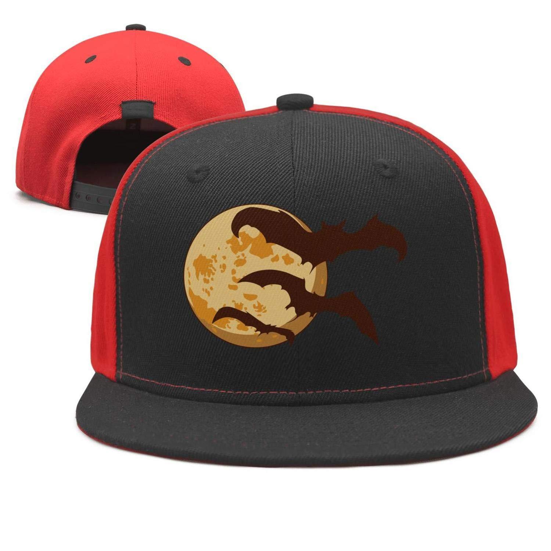 Amazon.com  ddasqas Halloween Moon Bats Unisex Plain Caps Baseball Caps  Trucker Hats  Clothing 23f680a46b5