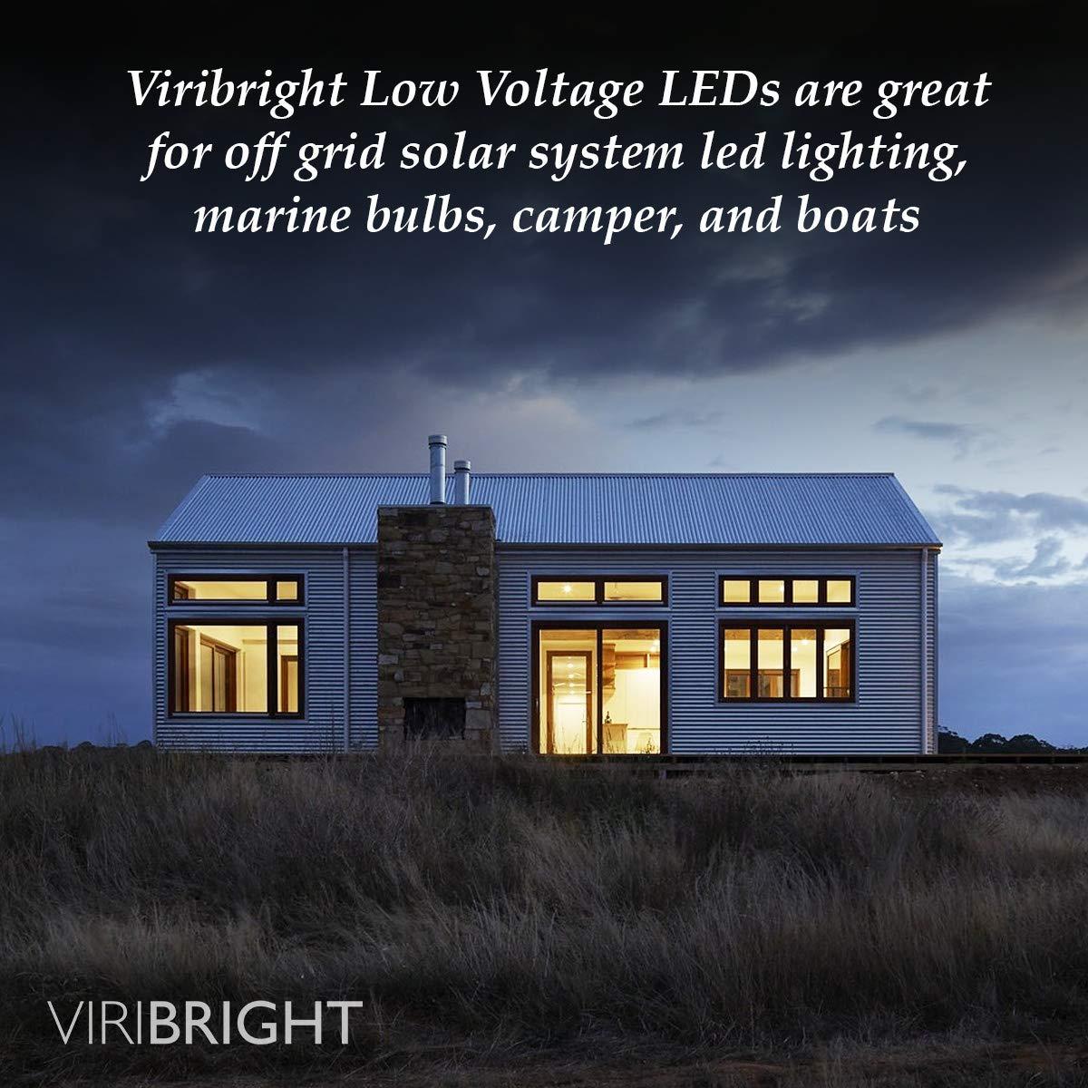 Viribright Lighting 751619-4 Low Voltage LED, Viribright 12-24V DC, (10W) 75 Watt Equivalent Light, 6000K Daylight, Edison Bulb Medium Base E26, ...