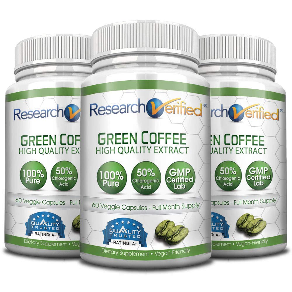Green Coffee Bean Extract - One Month Supply - 100% Pure by Research Verified - 50% Chlorogenic Acid - 365 Day 100% Money Back Guarantee - Try Risk Free for Fast and Easy Weight Loss by Research Verified (Image #4)