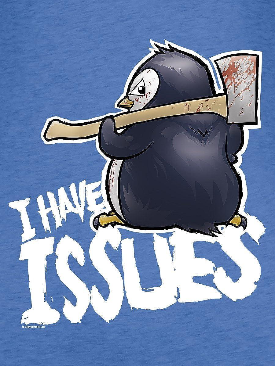 Psycho Penguin Canotta Svasata I Have Issues da Donna in Blu