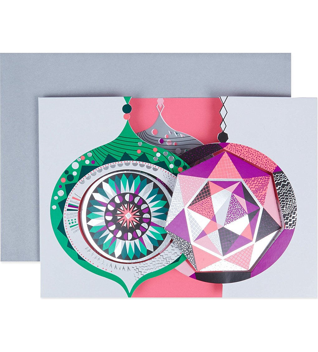 Amazon.com : MoMA Peagreen Faceted Baubles Boxed Holiday Cards ...