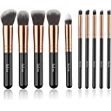 Makeup Brushes, SOLVE Premium Makeup Brush Set Synthetic Cosmetics Foundation Powder Concealers Blending Eye Shadows Face Kab