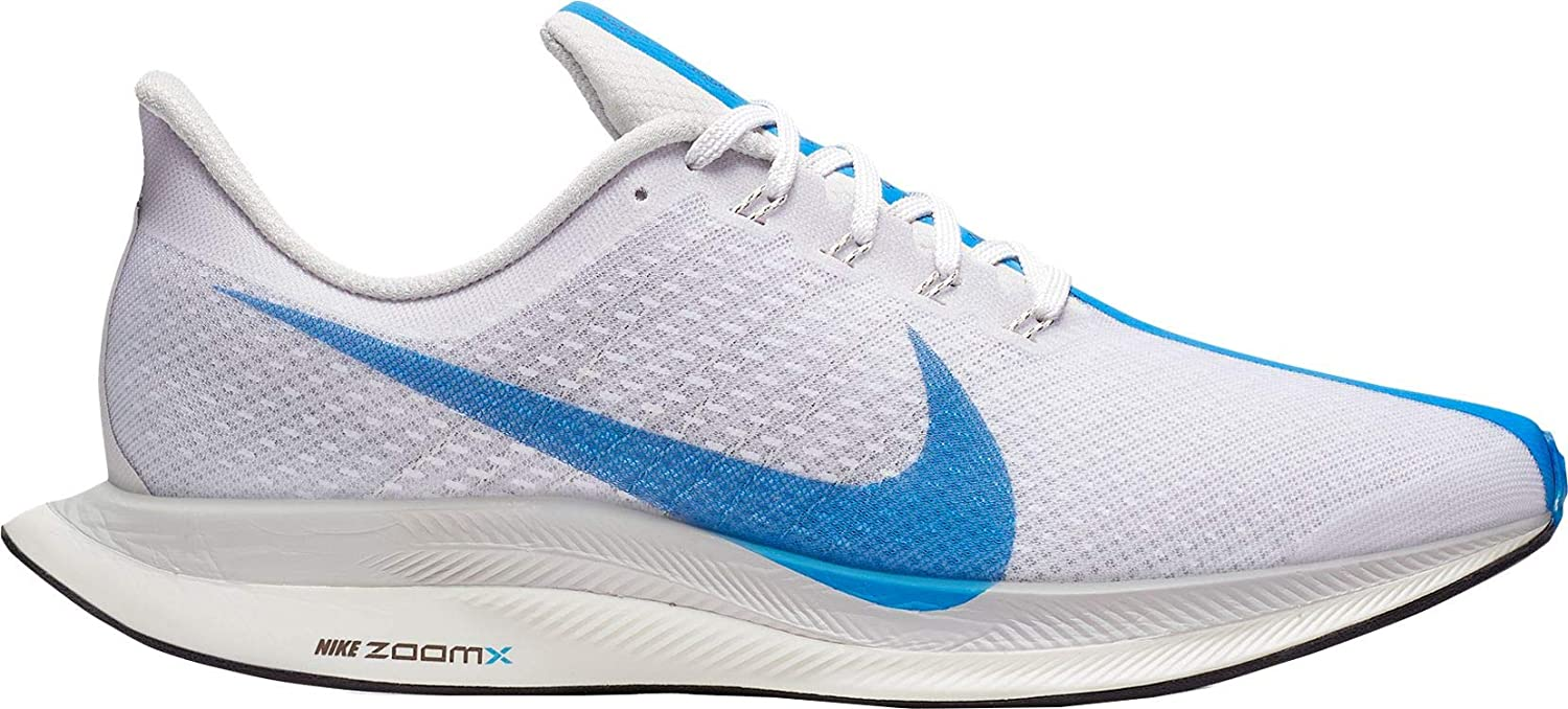 online store 9f817 3854a NIKE Men's Air Zoom Pegasus 35 Turbo Running Shoes (14, White/Blue)