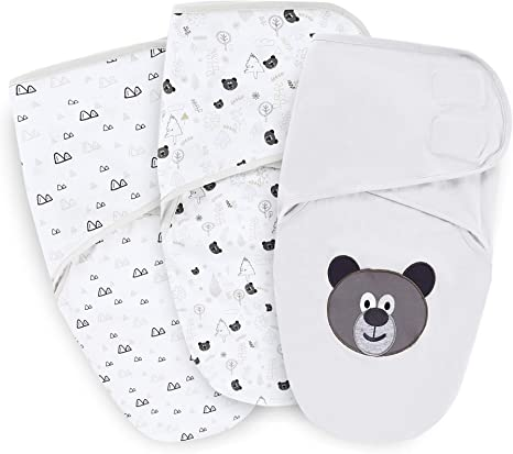 Baby Swaddle Wrap up Blanket Sleeping bag Cotton Bedding one piece 0-3 months