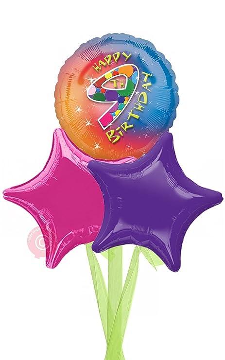 No 9 Happy 9th Birthday Girl