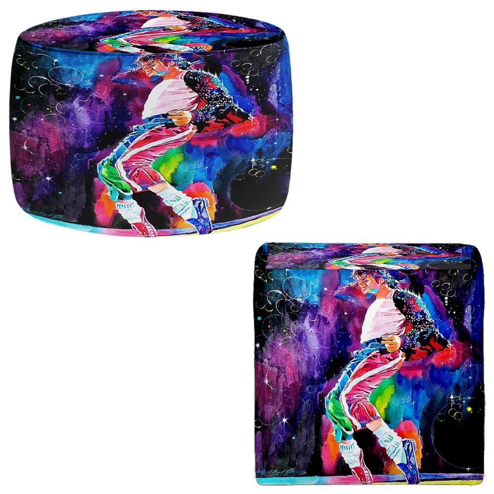 Foot Stools Poufs Chairs Round or Square from DiaNoche Designs by David Lloyd Glover - Michael Jackson Dance Painting