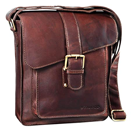 383e5bed8799 STILORD  Lukas  Shoulder Bag Leather Medium Sized for Men Cross Body Bag