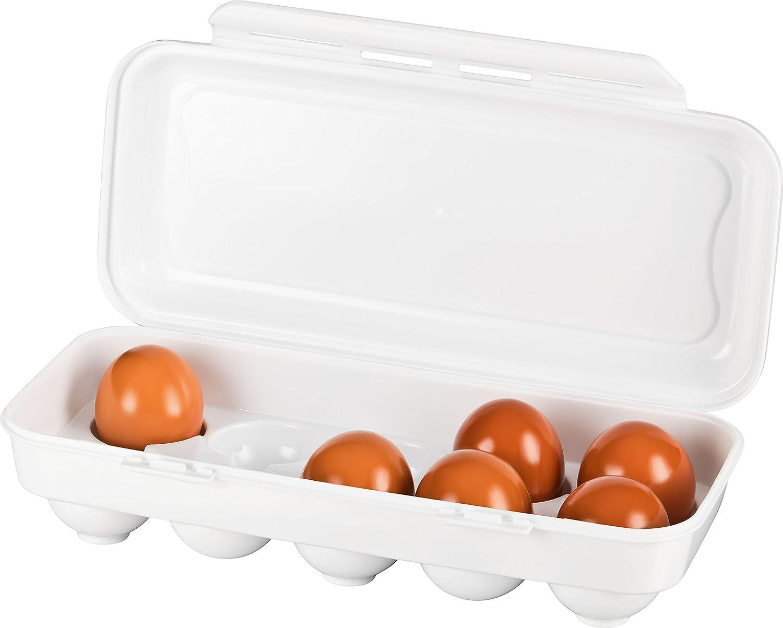 Kühlschrank Eierhalter 10 : Kigima eierbox für eier weiß amazon küche haushalt