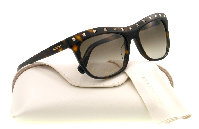 Valentino Women's V650S Sunglasses, Dark Havana