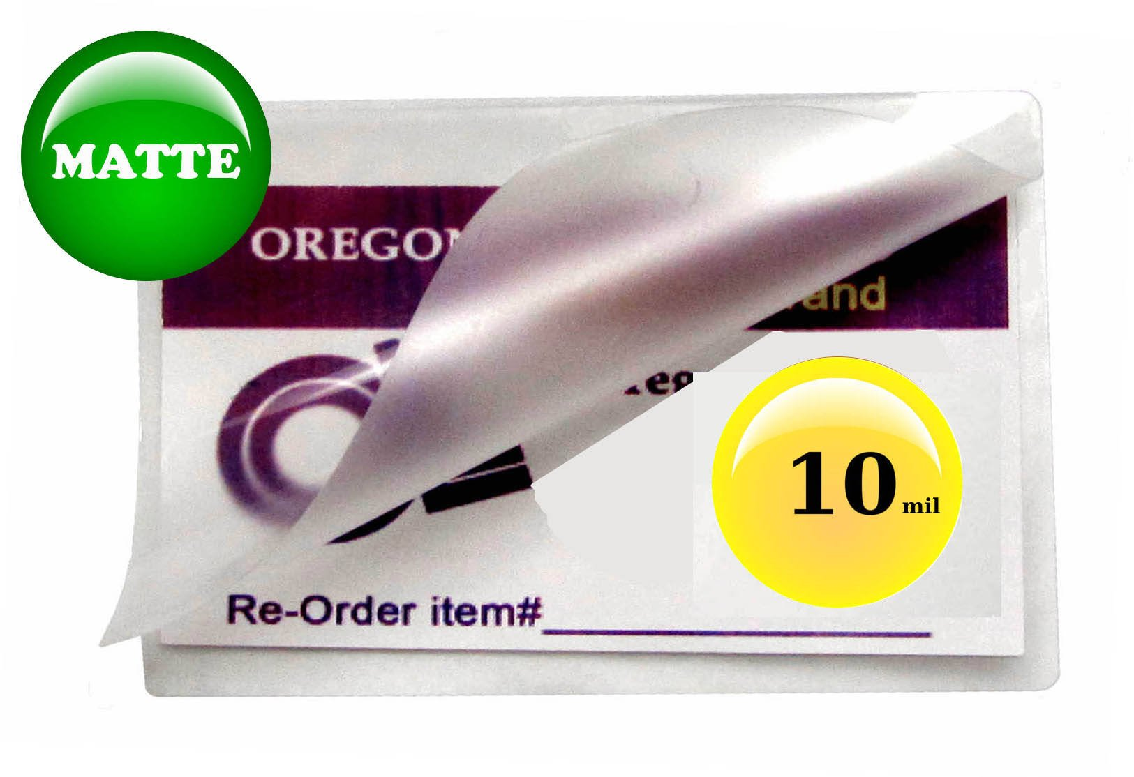 Oregon Lamination Hot Laminating Pouches Business Card (pack of 200) 10 Mil 2-1/4 x 3-3/4 Matte/Matte
