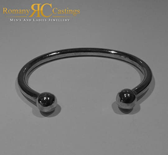 8036945be0f9 Extra Heavy Solid Torque Bangle cast in 925-sterling Silver 115 grams 8  inches  Amazon.co.uk  Handmade