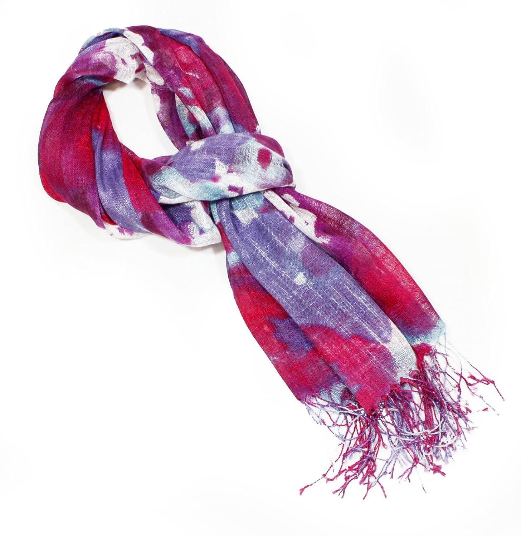 4square One Size Women Lilac Splats Fashion Viscose Scarf