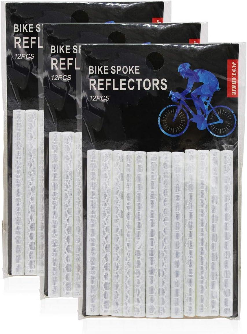 JCstarrie Bike Speichenreflektor Fahrrad MTB Fahrrad Rad Speichenreflektoren Clip Tube f/ür Kinder Adult Bike Easy Mount 36PCS