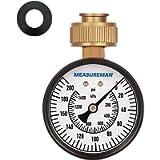 Measureman 2-1/2' Water Pressure Test Gauge, 3/4' Female Hose Thread, 0-200 psi/kpa