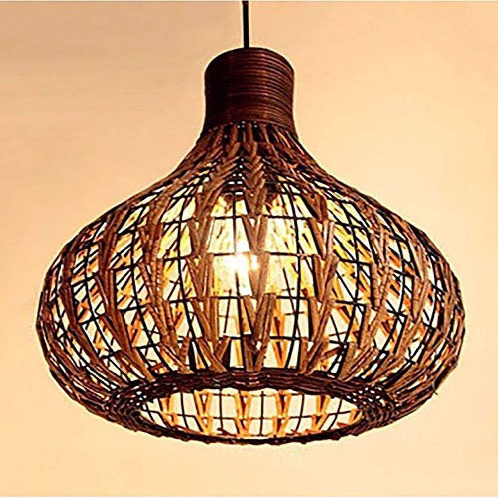 Bagood Natural Bamboo Chandelier Diy Wicker Rattan Lamp Shades Weave