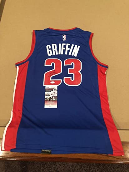 317b71c53e7 Image Unavailable. Image not available for. Color  Blake Griffin  Autographed Signed Custom Detroit Pistons Jersey ...