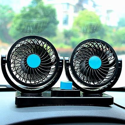 Ventilatore per autoveicoli per auto 12V Ventilatore elettrico portatile Mini Ventilatore per aria silenziosa a velocit/à regolabile per camion per auto SUV ATV ATV
