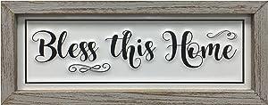 Picfarce Rustic Bless Home Wood Metal Signs, 12