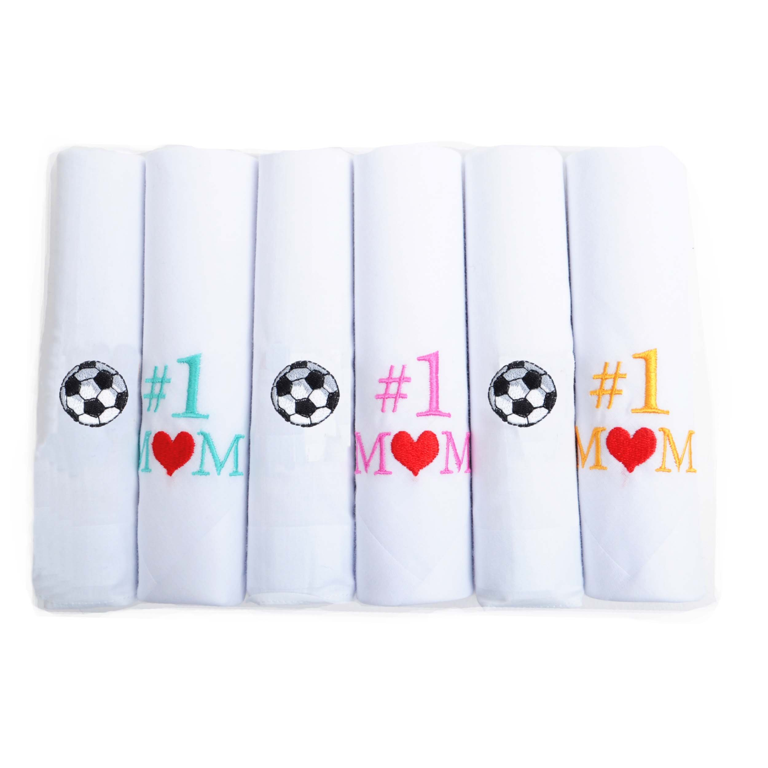 Boxed-Gifts #1 Soccer Mom 6pc Assorted Handkerchief Set