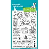 "LAWN FAWN Clear Stamps 4""X6"" Winter Village (LF1472)"