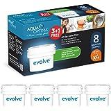 Aqua Optima Evolve - Lot pour 8 mois , 4 x filtres à eau 60 jours - compatible avec *BRITA Maxtra (pas *Maxtra+) - EVD415