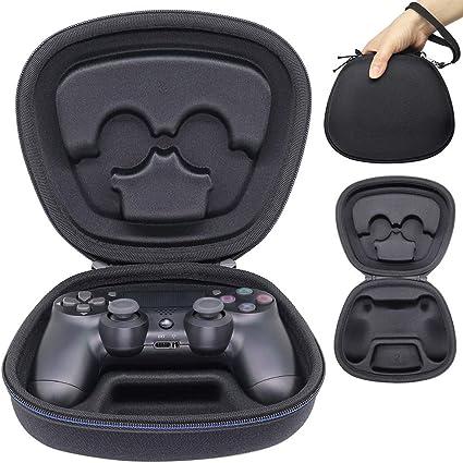 Sisma Funda rigida para Mando original PS4 - Estuche de transporte para guardar y proteger Gamepad wireless Dualshock 4 de PlayStation, color negro: Amazon.es: Videojuegos