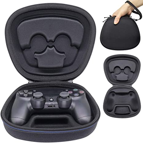 Sisma Funda rigida para Mando original PS4 - Estuche de transporte para guardar y proteger Gamepad wireless Dualshock 4 de PlayStation, color negro: Amazon.es: Videojuegos