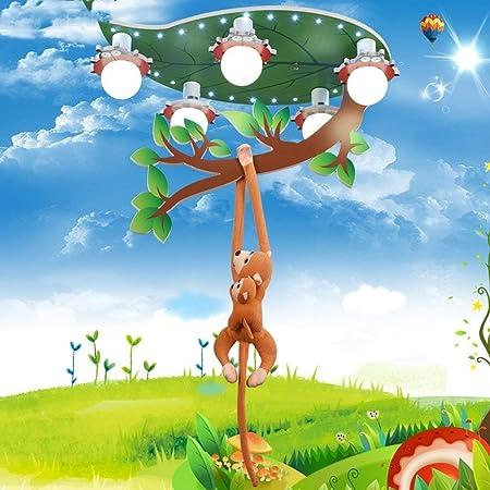 GWFVA Le jeuneLampe de Plafond LED pour Chambre de Singe cr/éative Lustre Protection des Yeux Les Chambres du Berceau Lampes pour Bandes dessin/ées Couper l/éclairage de Plafond att/énuation p