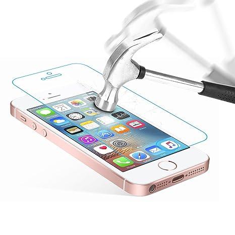 Danibos Schutzfolie Panzerglas für iPhone SE/ 5S/ 5/ 5C, Displayschutzfolie Gehärtetem Glas Schutzglas für iPhone SE/ 5S/ 5/