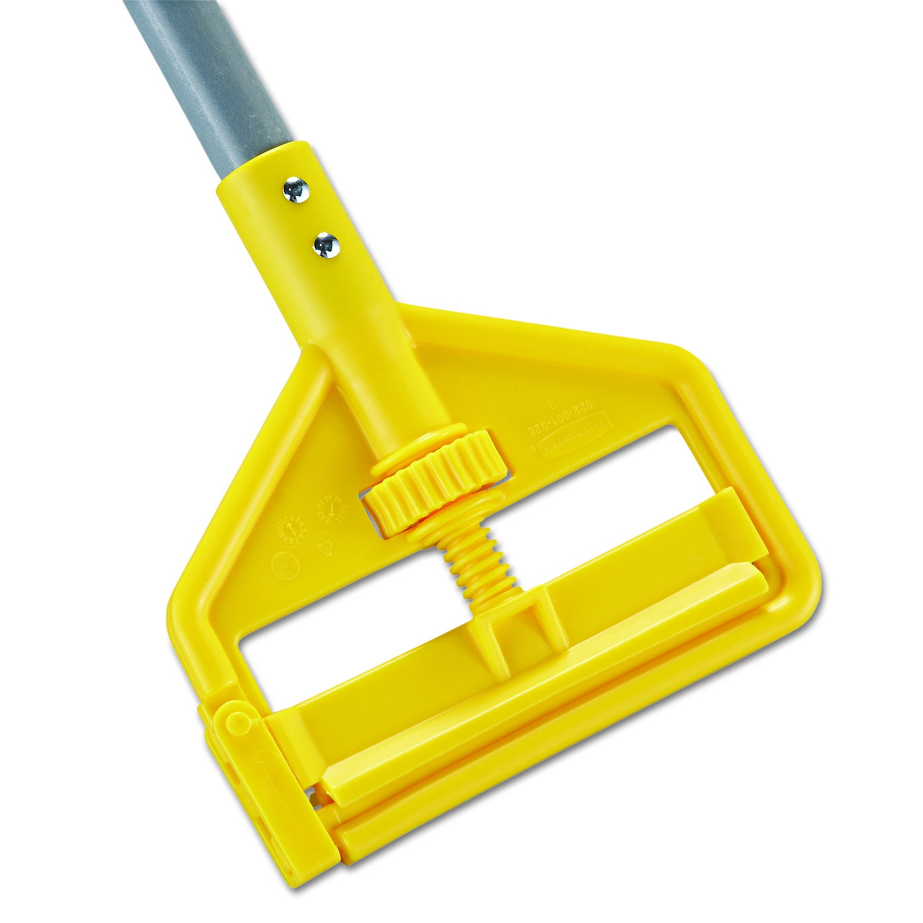 Rubbermaid Commercial RCP H146 Invader Fiberglass Side-Gate Wet-Mop Handle, 1'' Diameter x 60', Gray/Yellow