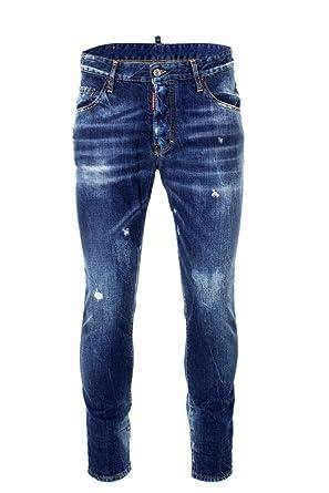 3a4389fc7920 Amazon.com  DSQUARED2 Mens Black Bull Skater Jeans  Clothing