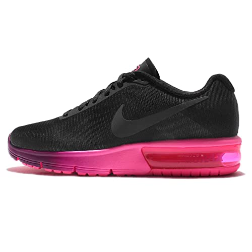 5fb21e0abc Nike Women's WMNS Air Max Sequent, Black/Anthracite-Pink Blast-Bright, 5  US: Amazon.in: Shoes & Handbags