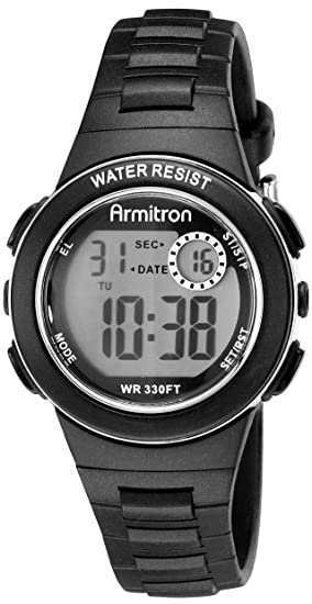 Armitron Sport 45/7046BLK - Reloj de pulsera Mujer, Resina, color Negro