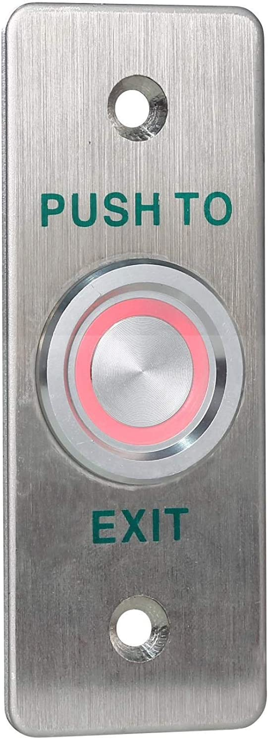 Piezoelectric Exit Button Stainless Steel Home Switch Panel For Access Control - -