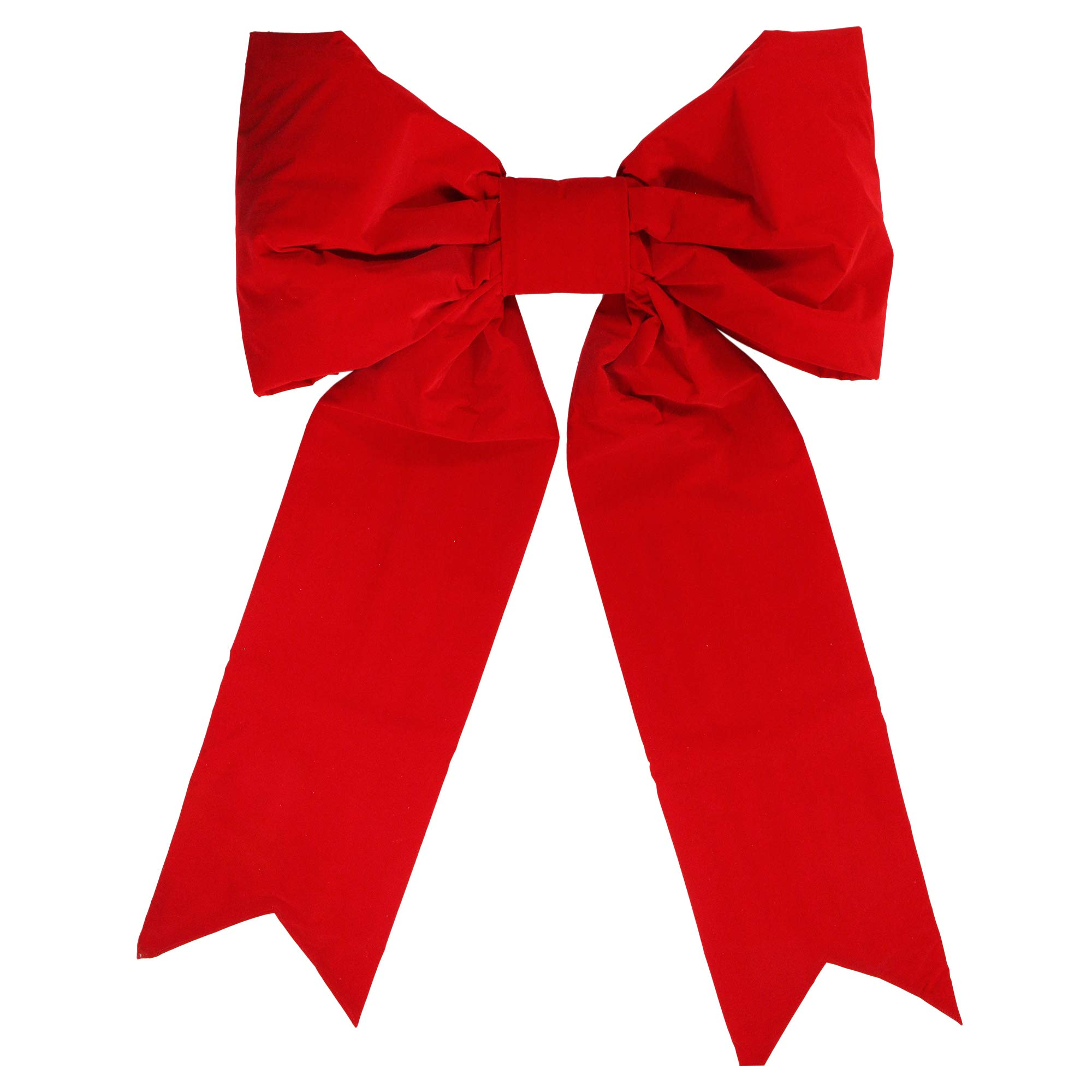 Dyno 34'' x 48'' Commercial 2-Loop Red Velveteen Christmas Bow Decoration