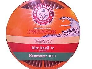 A&H Dirt Devil Style F8 Hi Efficiency Allergen Filter Pkg